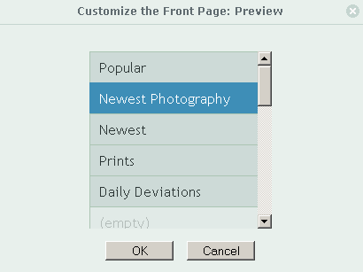 The +frontpage Dialog