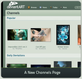 A New Channels Page
