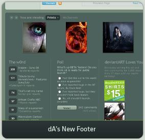 dA's New Footer